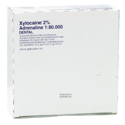 xylocaine 1 sans adrenaline